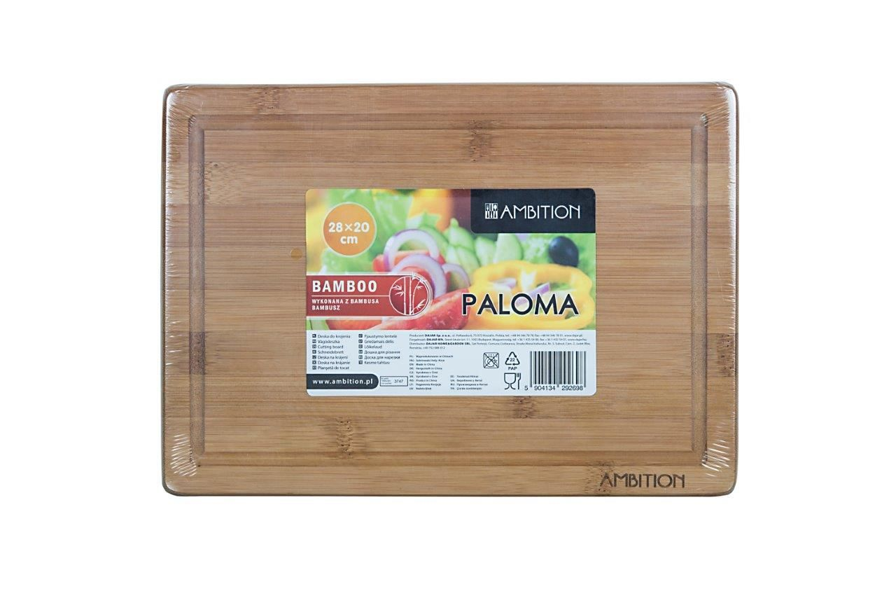 Deska bambusowa do krojenia Paloma 28 x 20 x 1,5 cm AMBITION