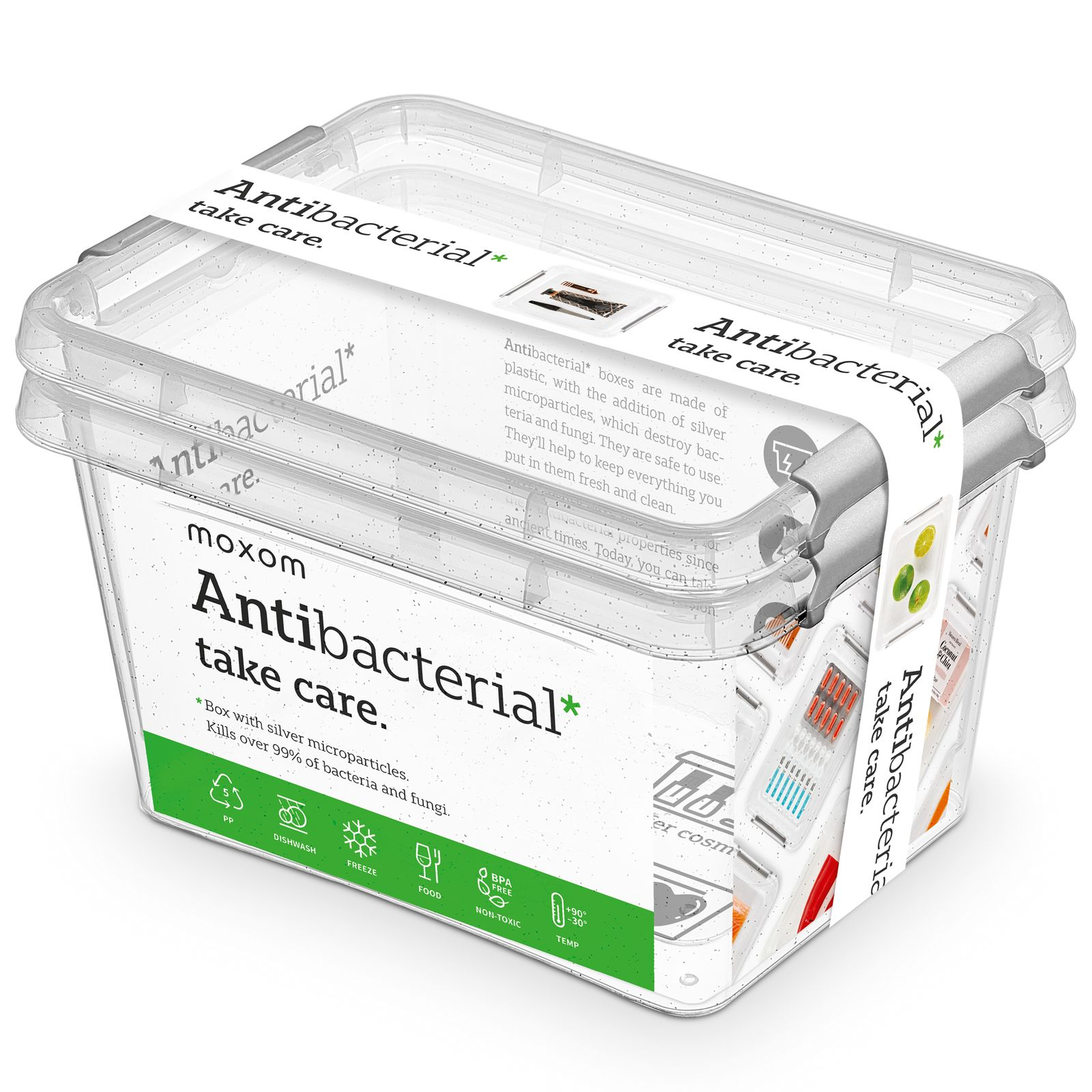 Zestaw 2 pojemników antybakteryjnych Antibacterial* 2 l ORPLAST