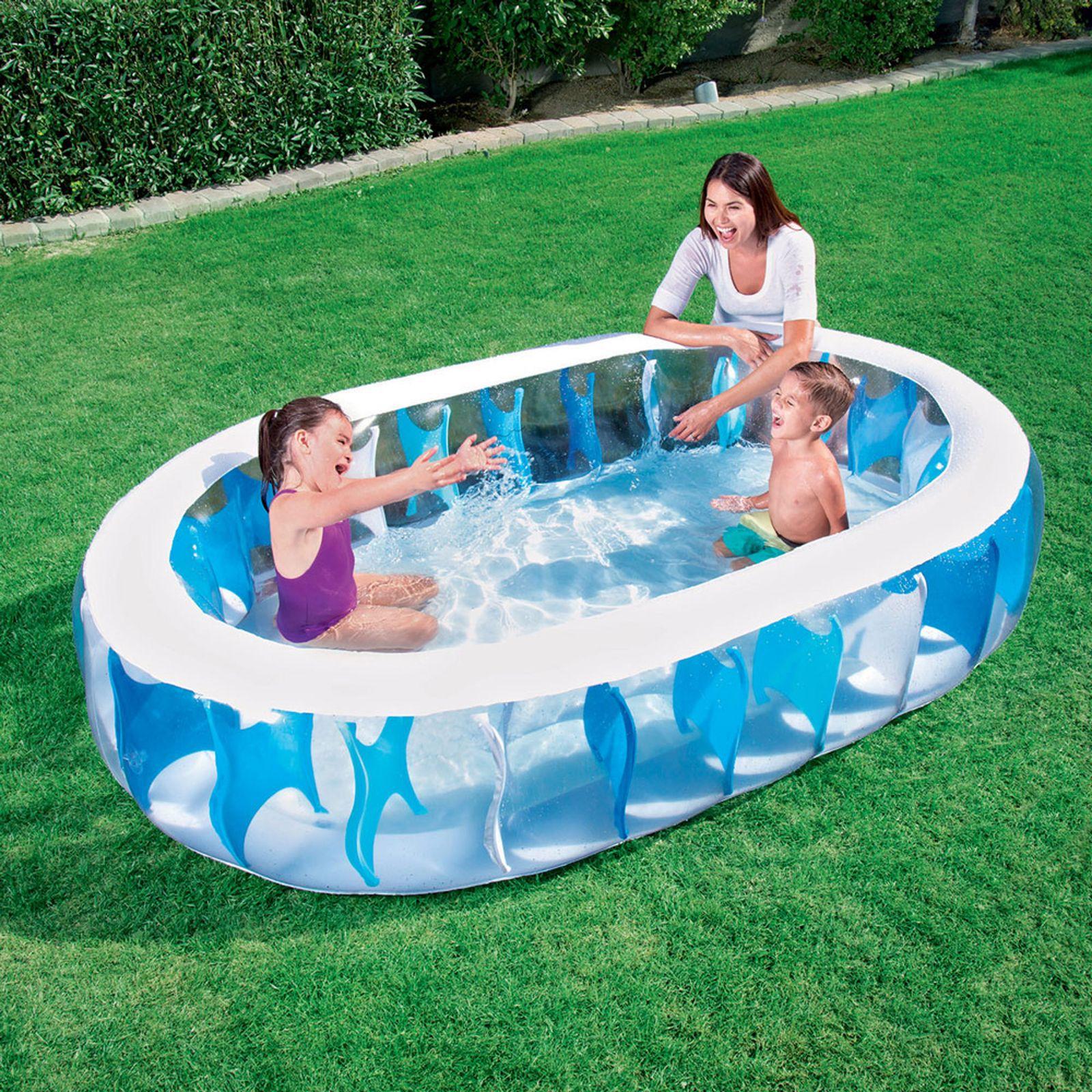 Piscina gonfiabile Eliptic Pool 229 x 152 x 51 cm BESTWAY VARI COLORI A CASO