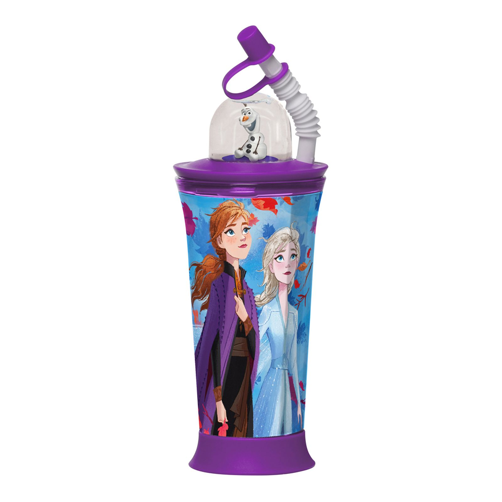 Sportovní láhev s figurkou Frozen II Blue 450 ml DISNEY