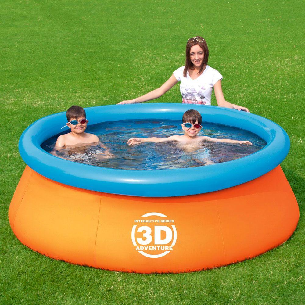 Piscine autoportante à boudin Splash & Play 3D 213 x 66 cm BESTWAY