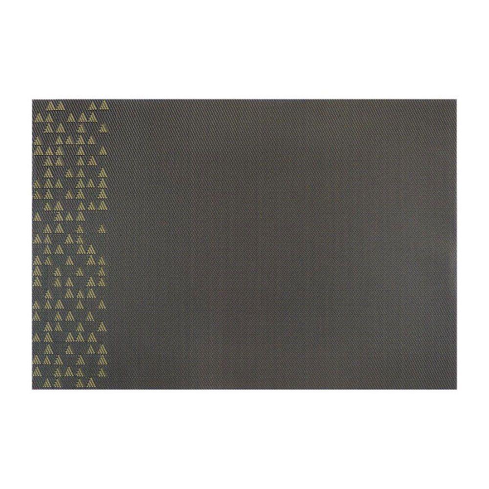 Mata stołowa PVC/PS Nordic Trójkąty 30 x 45 cm żółto-szara AMBITION