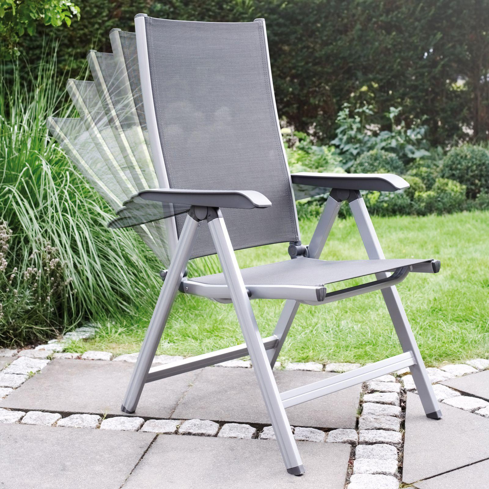 Krzesło wielopozycyjne Basic Plus srebrno-antracytowy KETTLER
