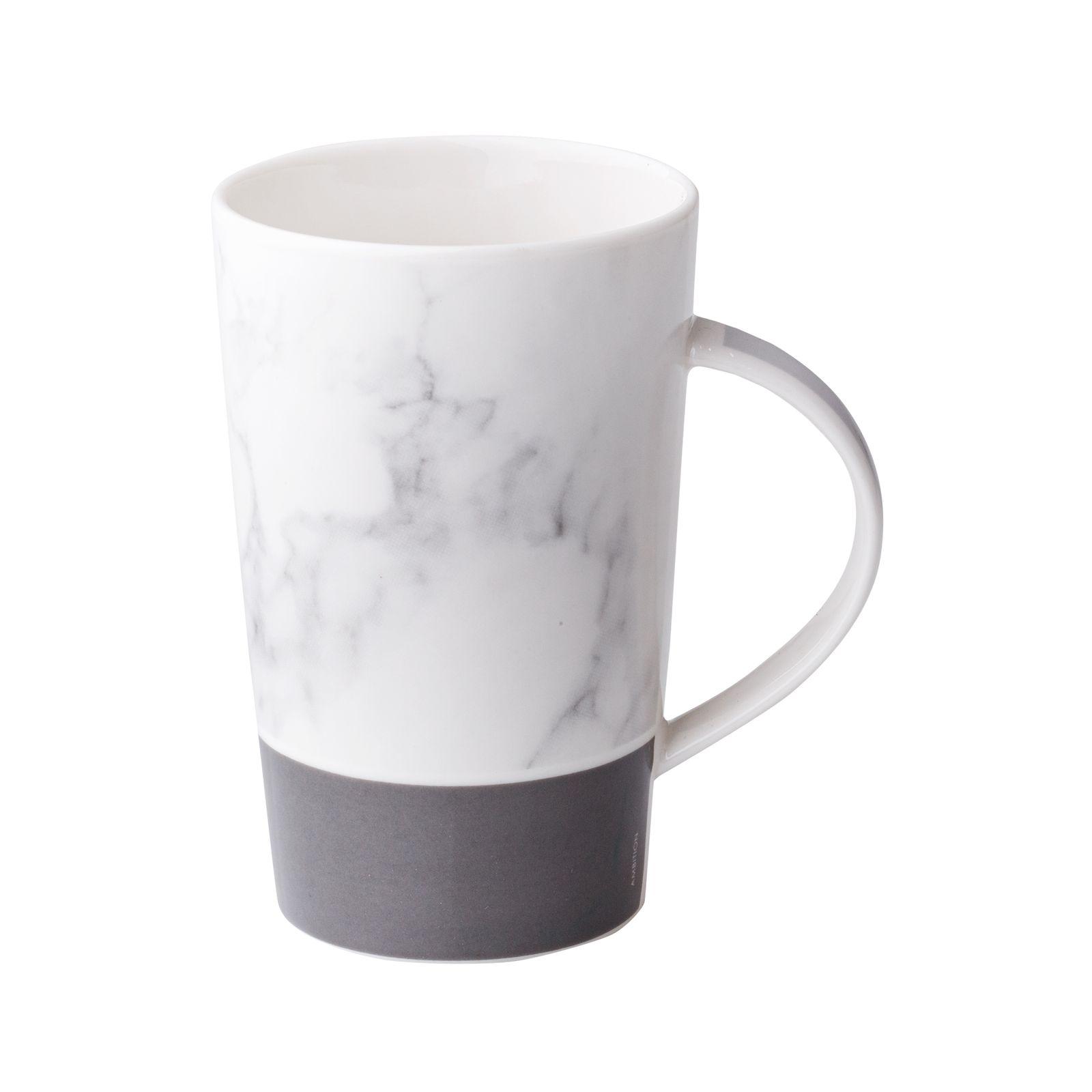 Kubek porcelanowy 430 ml Marble szary AMBITION