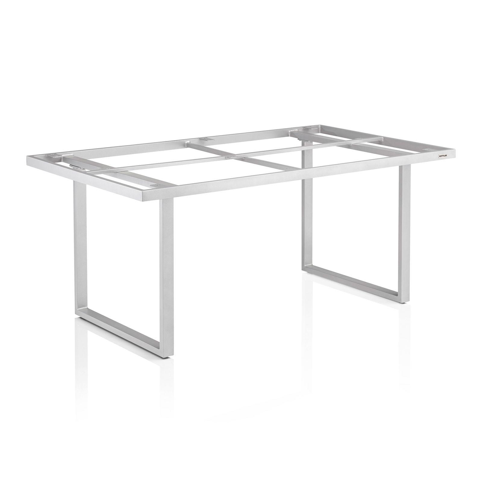 Stelaż stołu Ego Modular Dining 160 x 95 x 68 cm srebrny / stal KETTLER