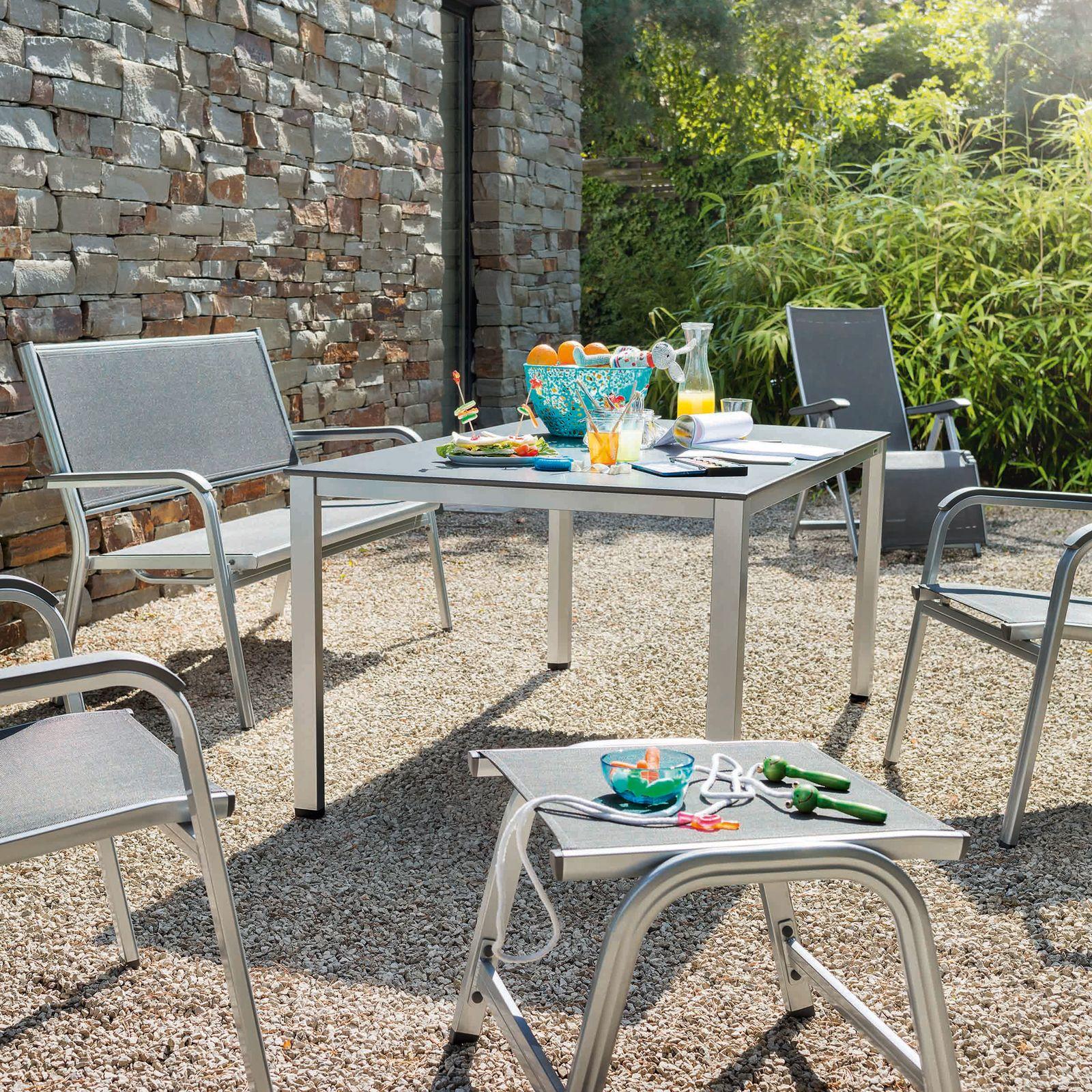 Taboret / stołek Basic Plus srebrny KETTLER
