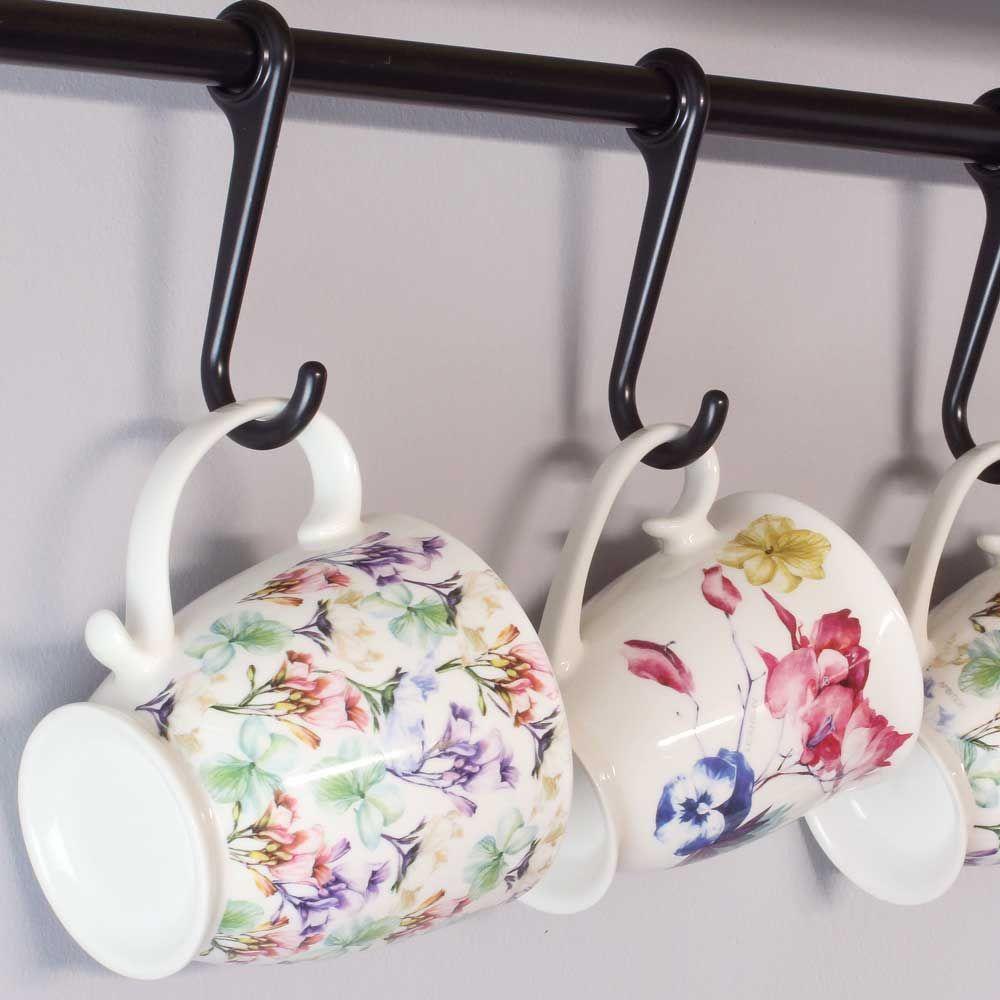 Mug en porcelaine Garden Be Glamourous 48 cl fleurs AMBITION