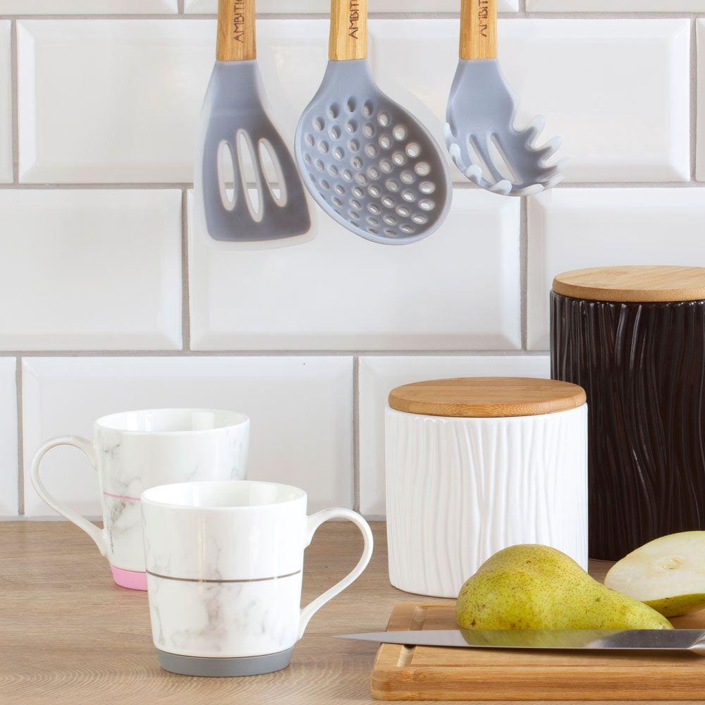 Mug avec base en silicone Marble pink 32 cl AMBITION