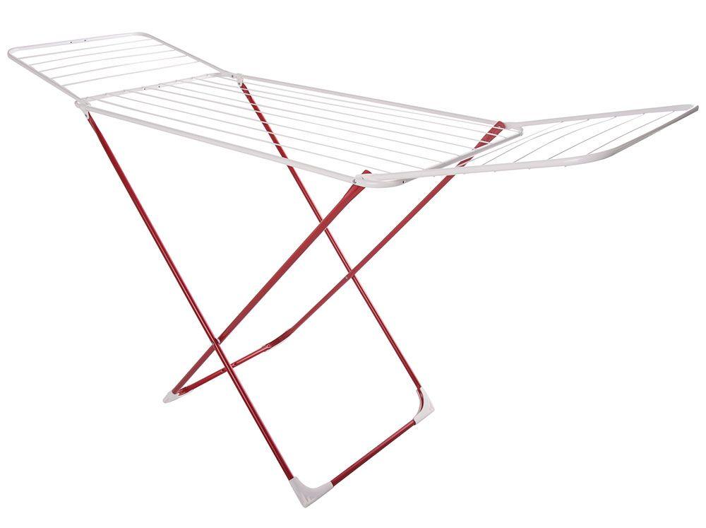 Uscător de rufe Carmen 183 x 55 x 99 cm alb cu roșu JOTTA
