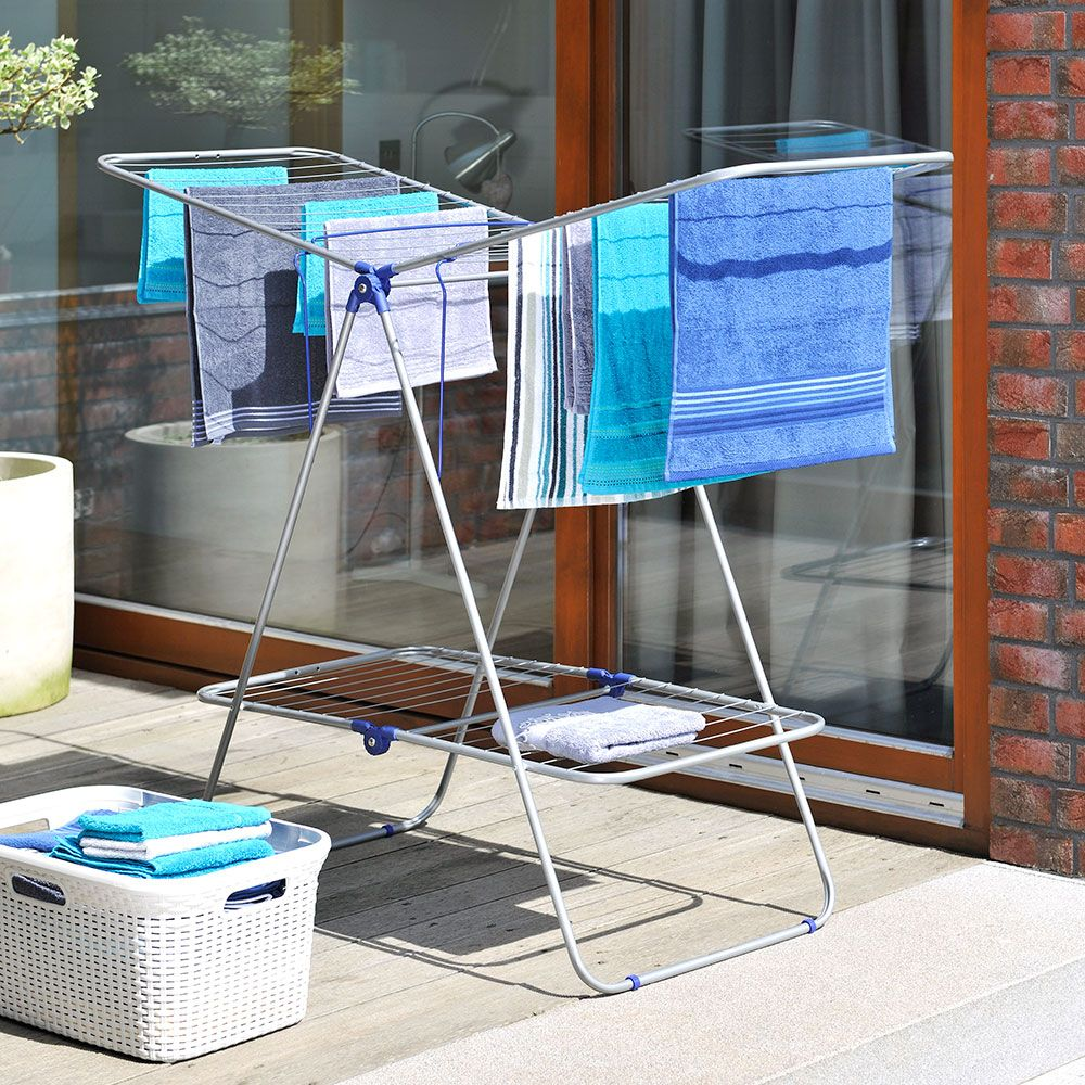 Uscător de rufe Klara metalic/albastru 162 x 61 x 114 cm JOTTA