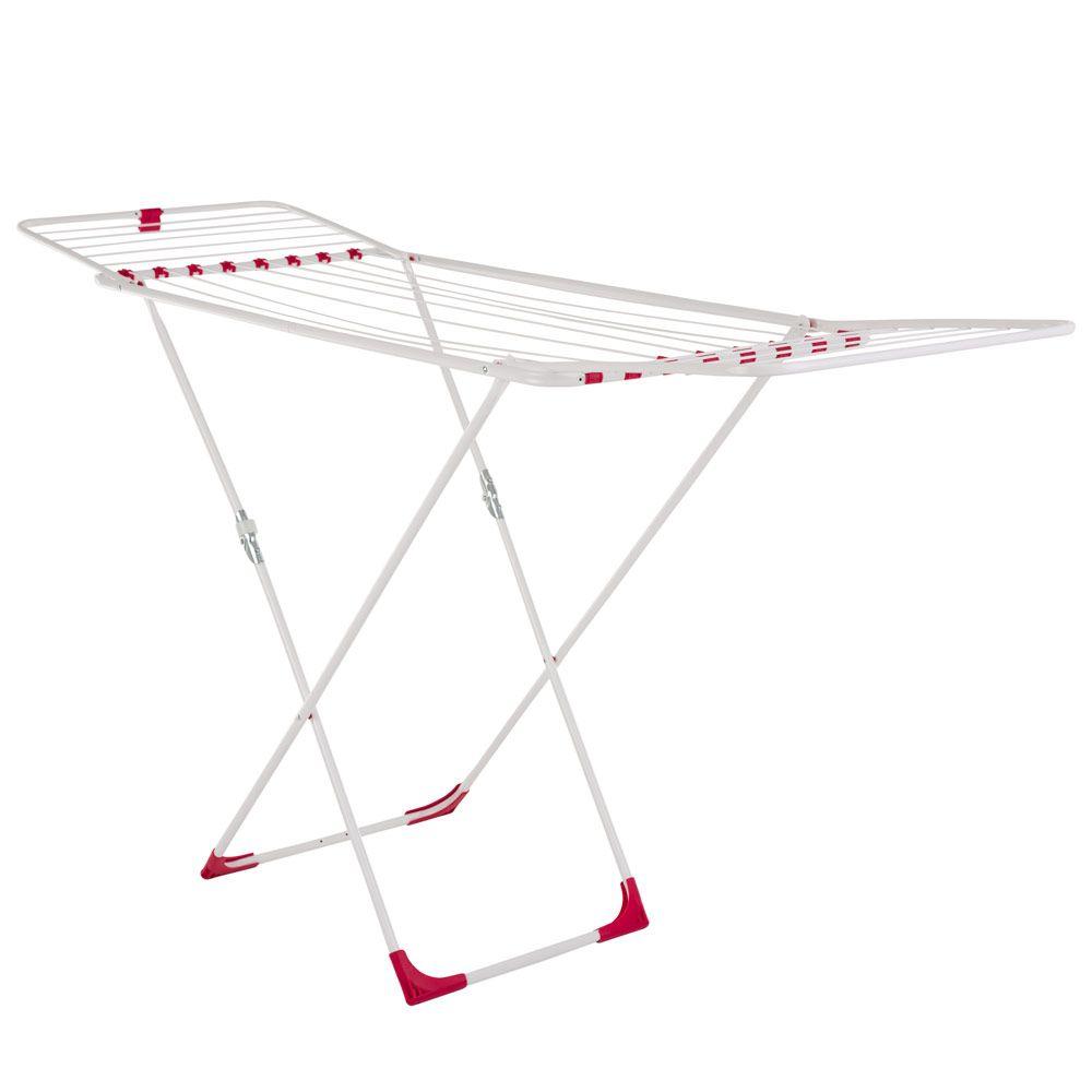 Uscător de haine Mira Plus 185 x 55 x 103 cm alb/roșu JOTTA