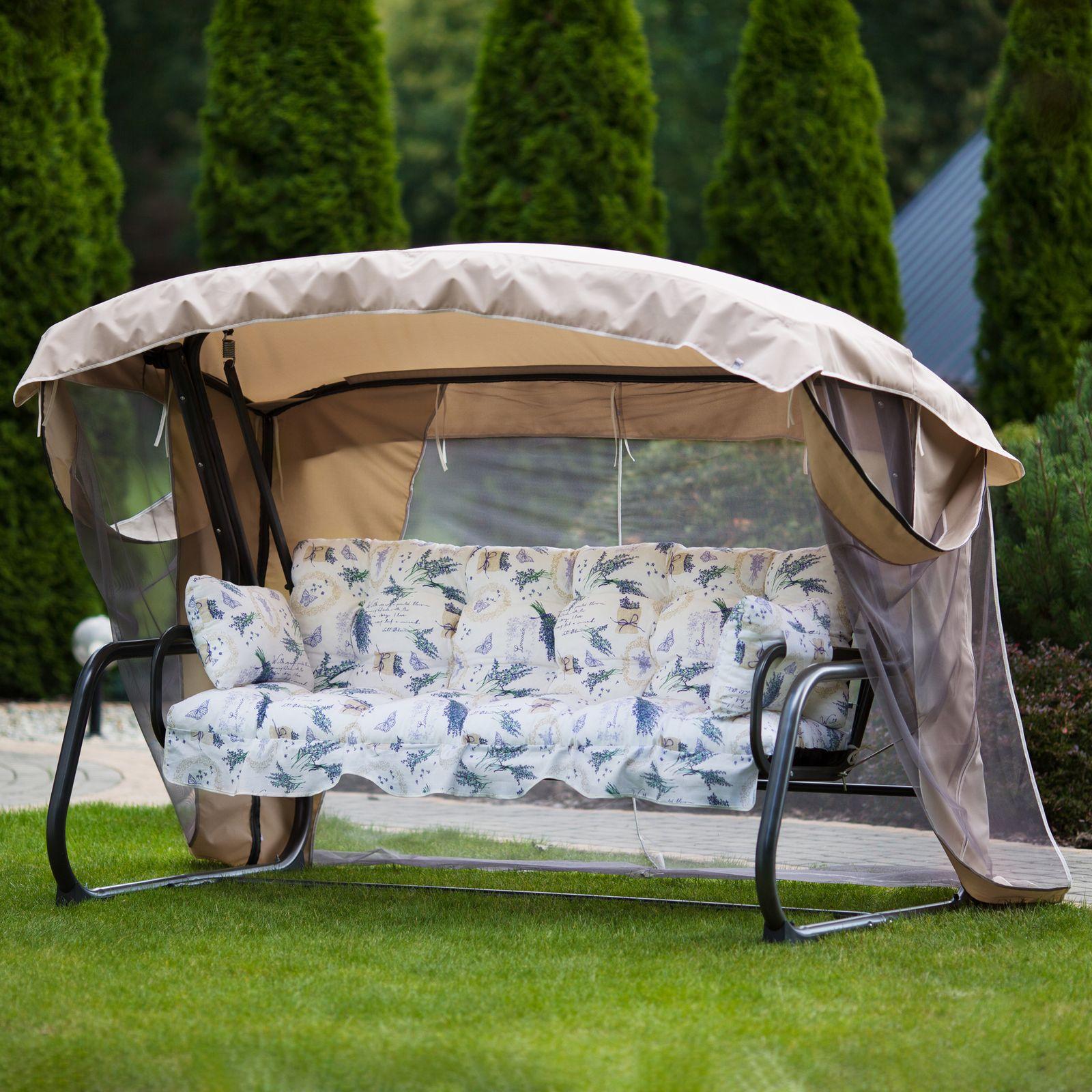 Huśtawka ogrodowa Ravenna Lux z moskitierą A083-08HB PATIO