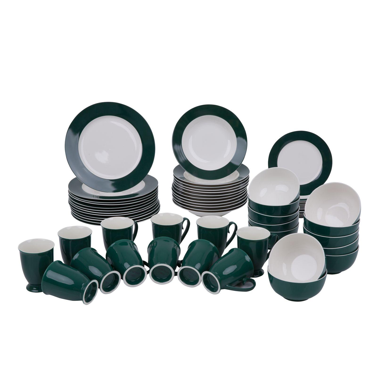 Servizio da tavola Aura Green 60 pezzi AMBITION