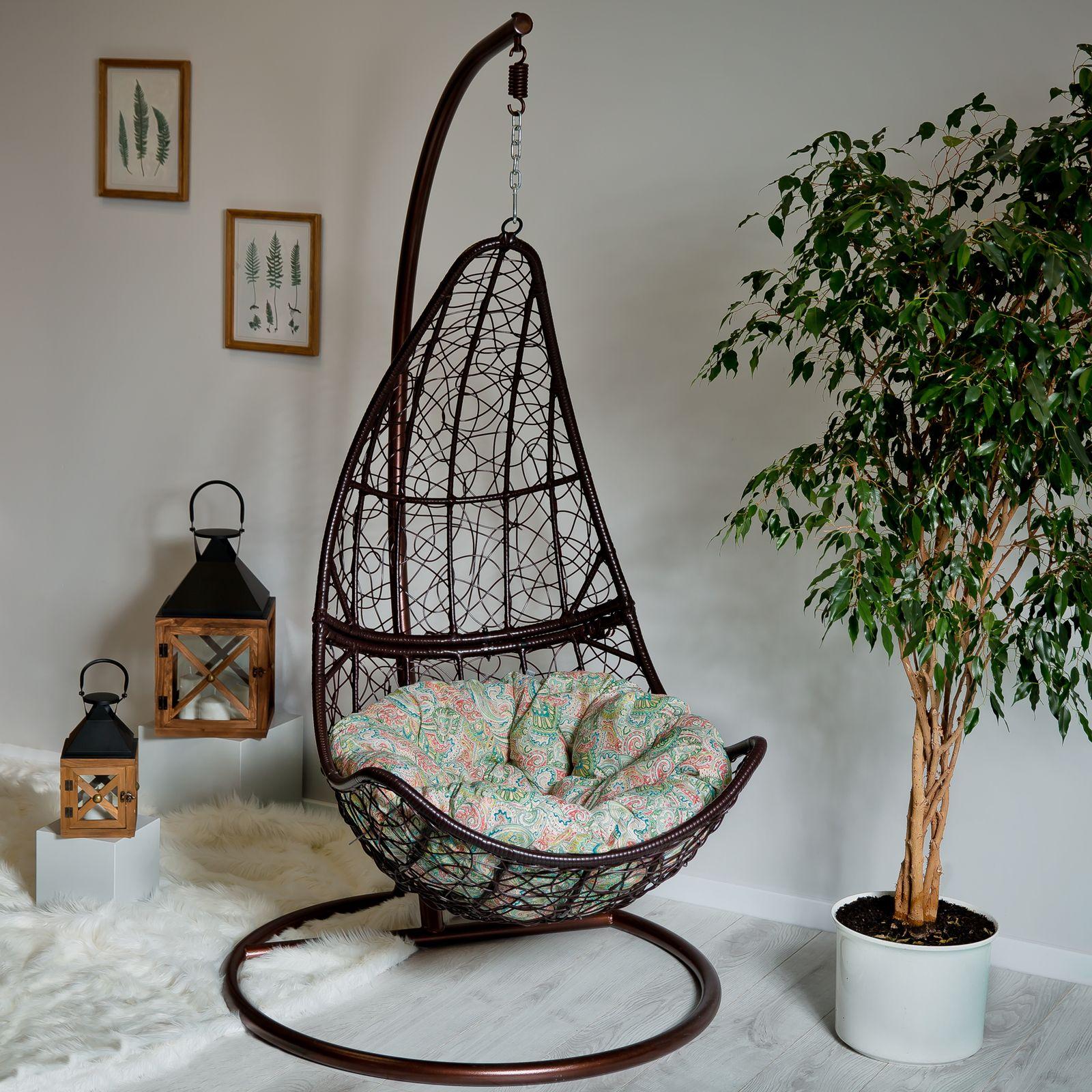 Cojín redondo para silla colgante G038-12LB 100 cm x 10/12 cm PATIO