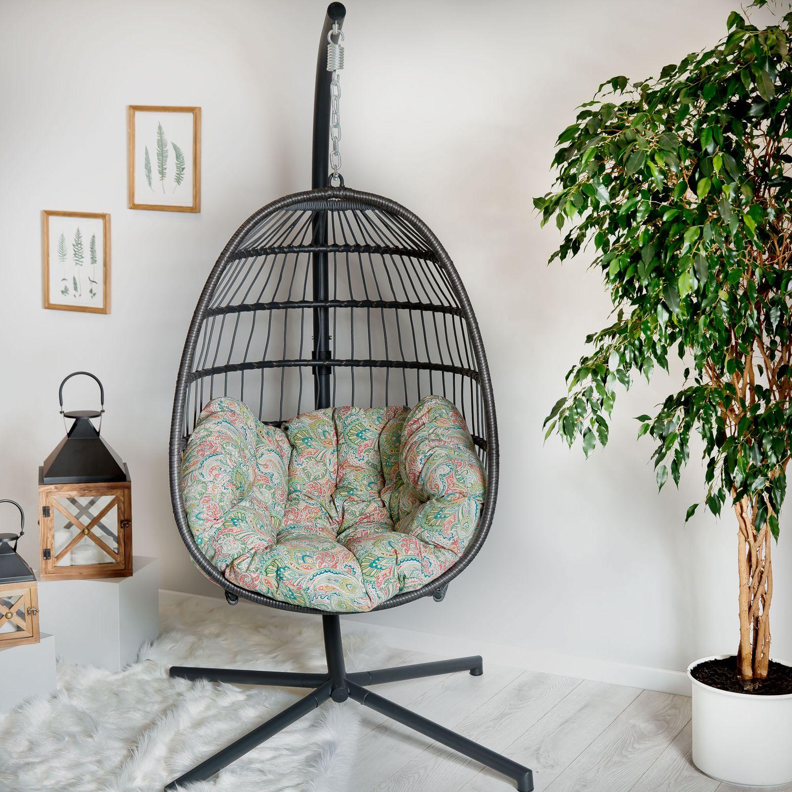 Cojín ovalado para silla colgante G038-12LB 144 x 100/45 x 10/12 cm PATIO