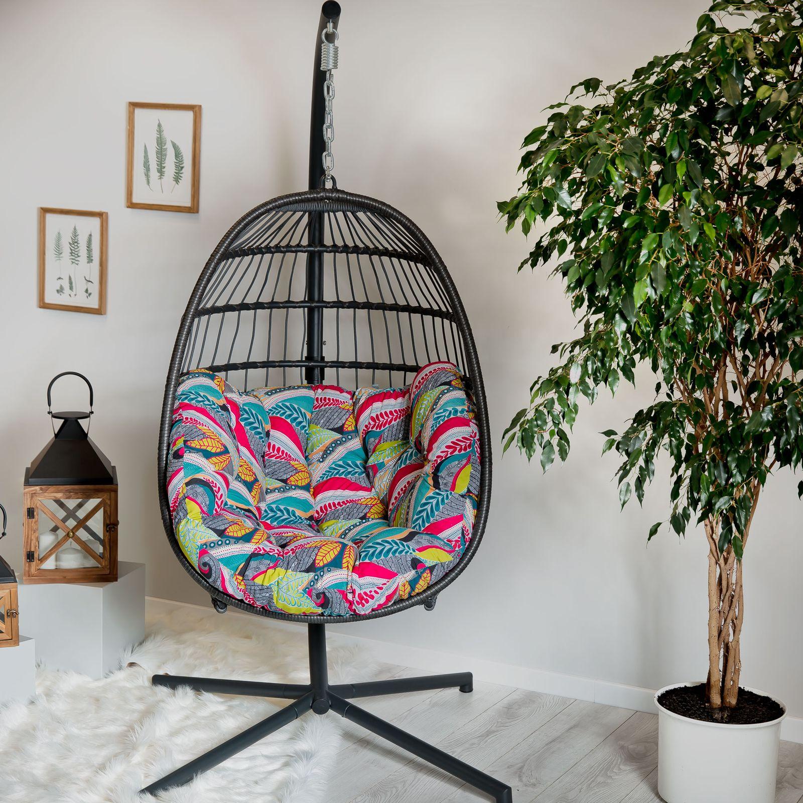Cojín ovalado para silla colgante G039-11HB 144 x 100/45 x 10/12 cm PATIO