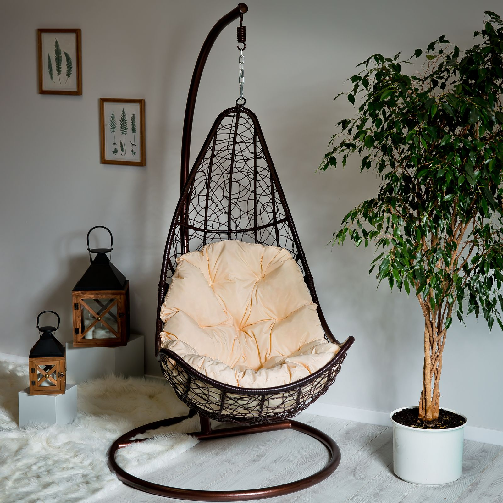Cojín trapezoidal para silla colgante D031-05CW 144 x 90/64 x 10/12 cm PATIO