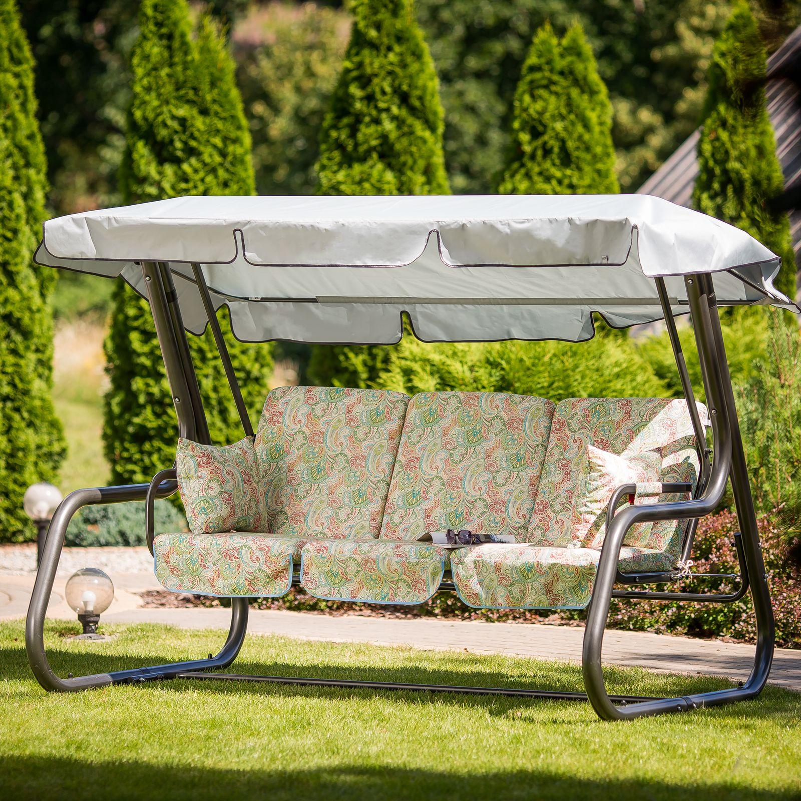 Poduszki na huśtawkę 180 cm z zamkami Rimini / Venezia Lux G038-12LB PATIO