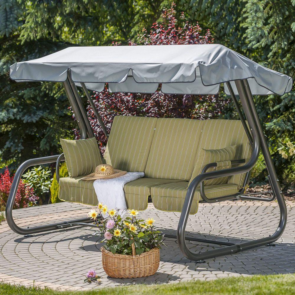 Balancín de jardín con toldo y set de cojines Rimini C033-02SB PATIO