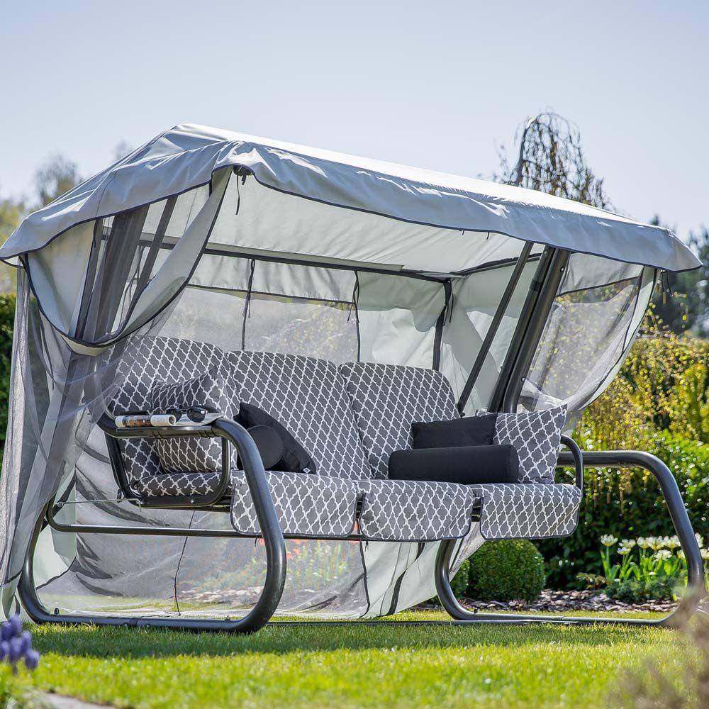 Huśtawka ogrodowa Venezia Lux ze stolikami H030-06PB PATIO