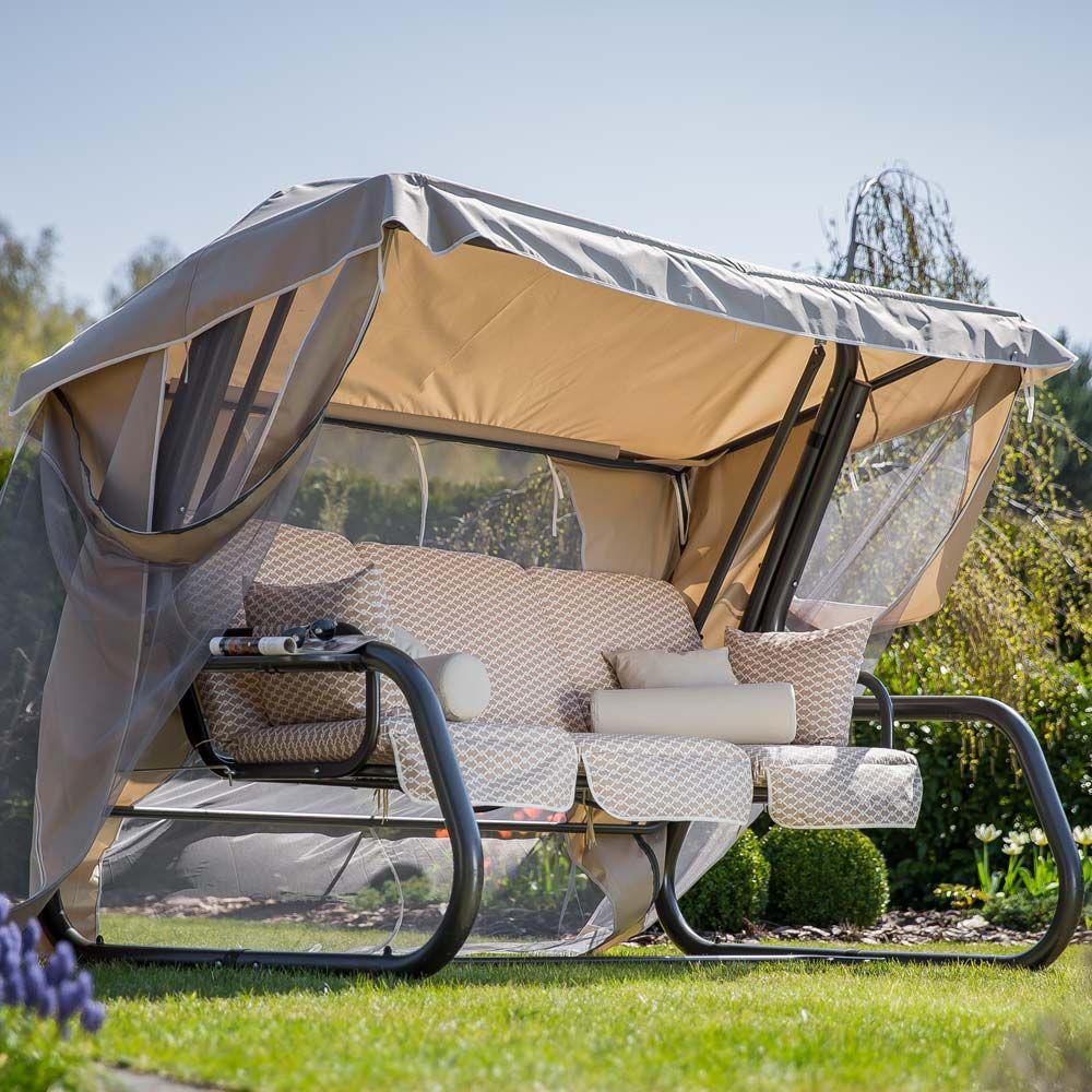 Huśtawka ogrodowa Venezia Lux  ze stolikami H031-05PB PATIO