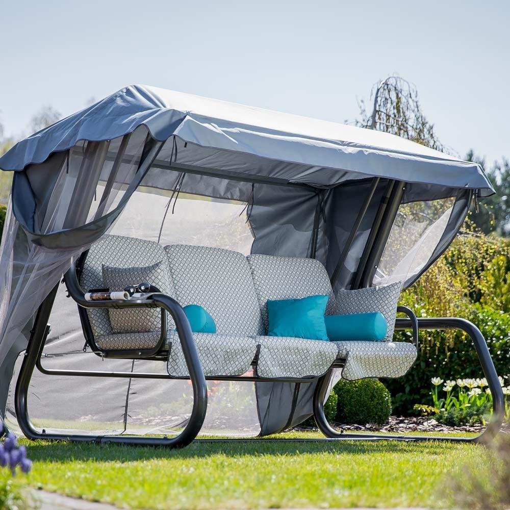 Huśtawka ogrodowa Venezia Lux  ze stolikami H032-06PB PATIO