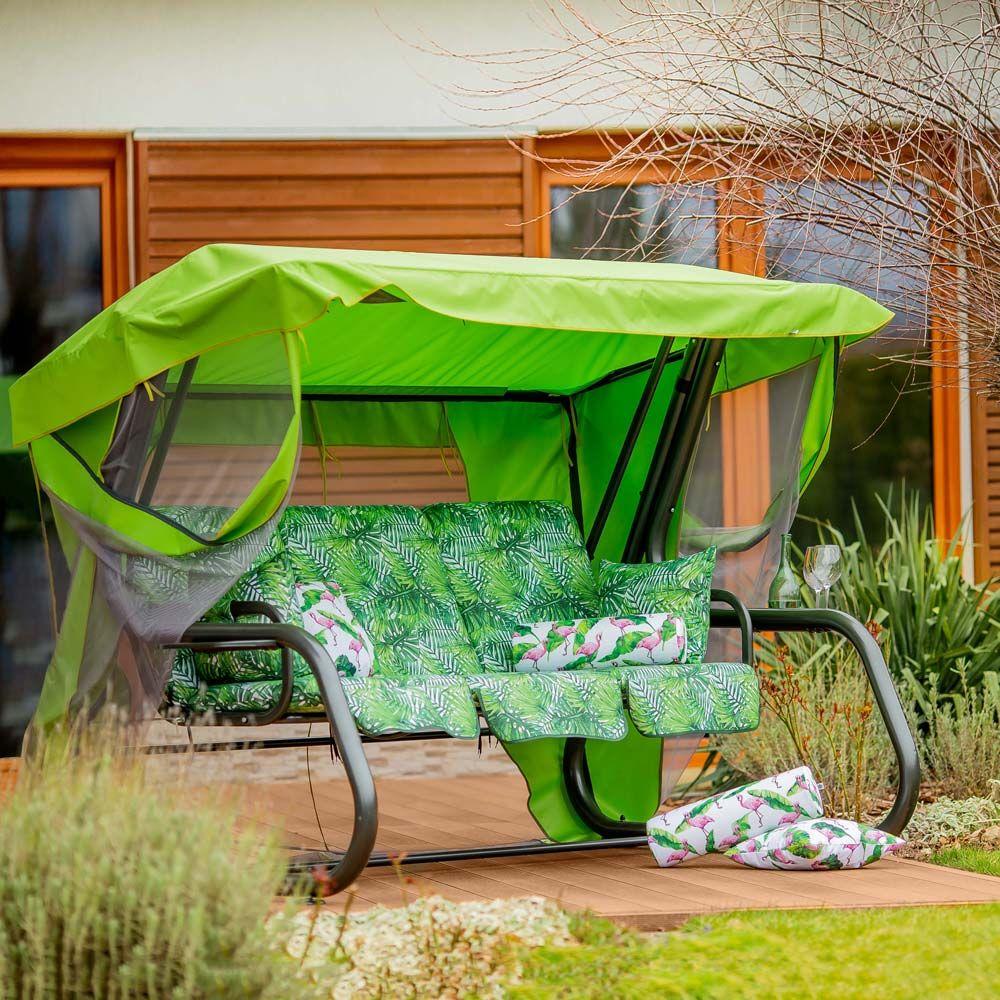 Huśtawka ogrodowa Venezia Lux  ze stolikami G035-02LB PATIO