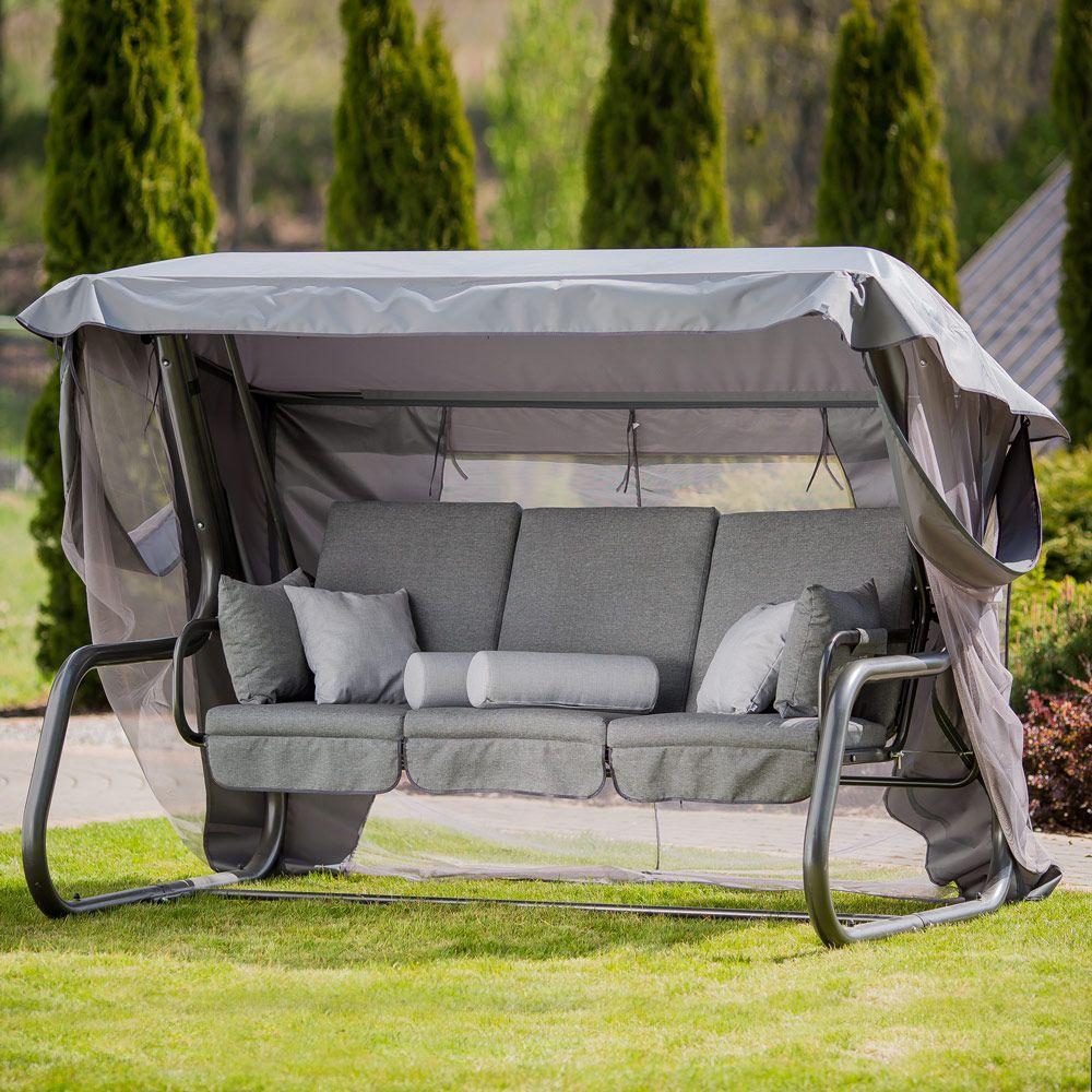 Huśtawka ogrodowa Venezia Lux ze stolikami bocznymi D048-16FB  PATIO
