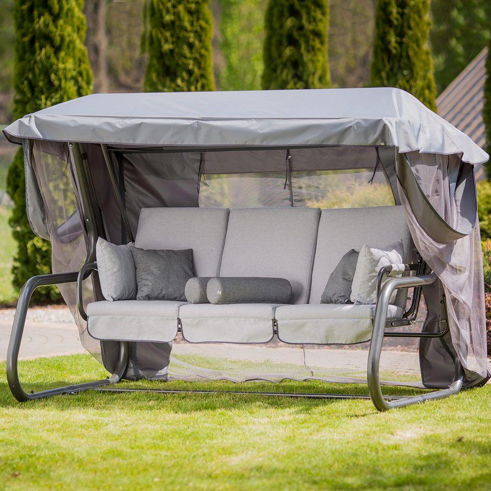 Huśtawka ogrodowa Venezia Lux ze stolikami bocznymi D048-06FB  PATIO