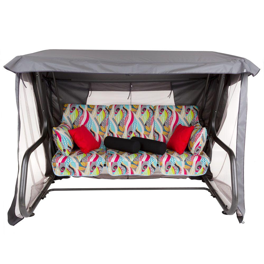 Huśtawka ogrodowa Venezia Lux ze stolikami G039-11HB PATIO