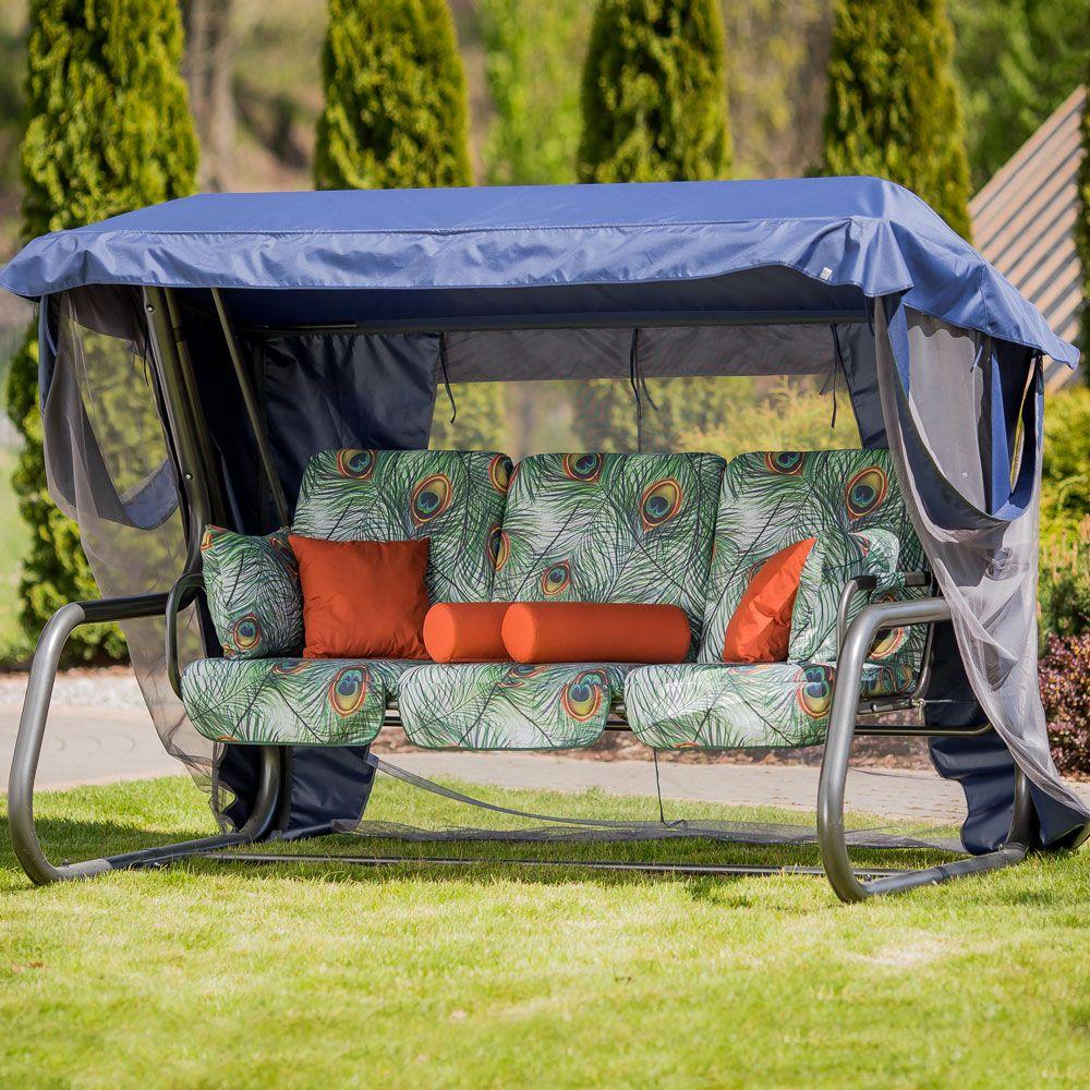 Huśtawka ogrodowa Venezia Lux ze stolikami bocznymi G036-02LB PATIO