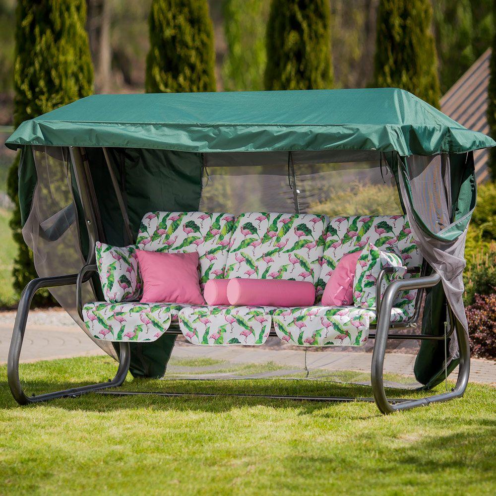 Huśtawka ogrodowa Venezia Lux ze stolikami bocznymi G037-03LB PATIO