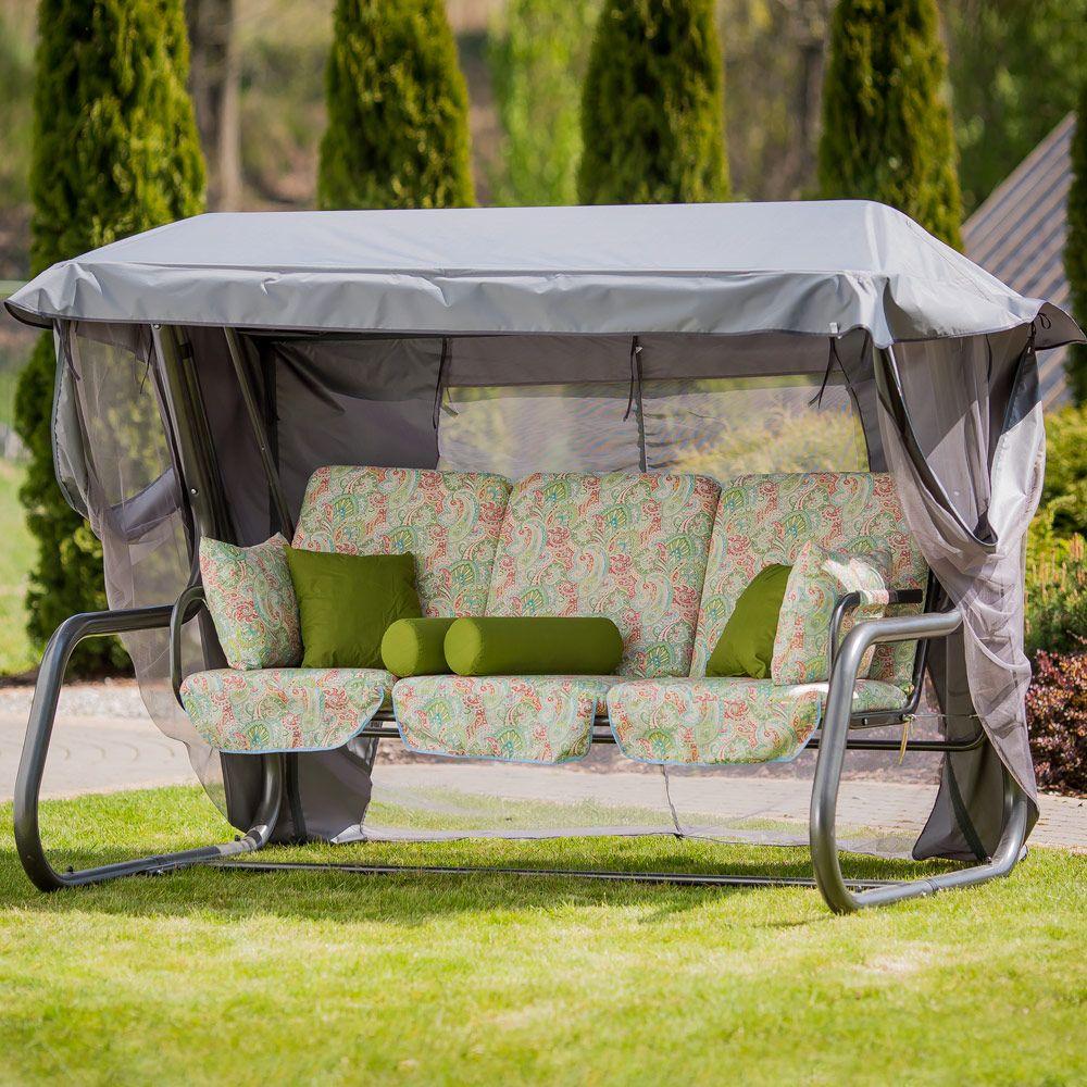 Huśtawka ogrodowa Venezia Lux ze stolikami bocznymi G038-12LB PATIO