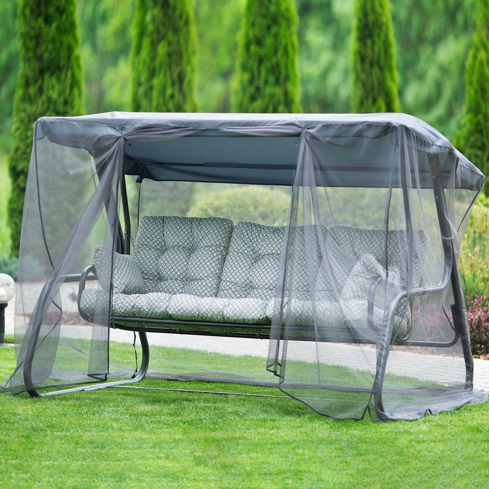 Záhradná hojdačka s moskytiérou Celebes Plus H32-06PB PATIO