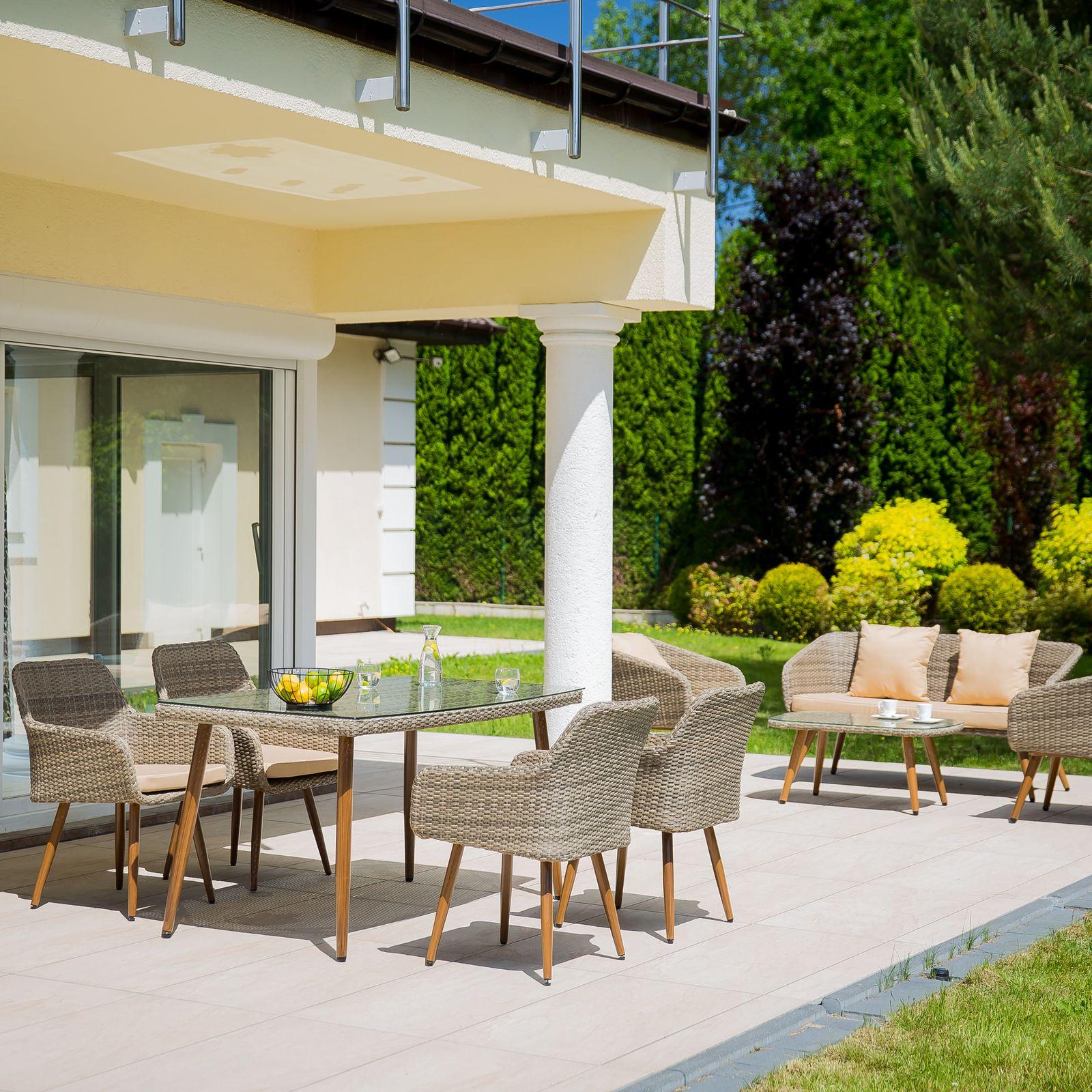 Set de muebles 1 mesa + 4 sillas Marlene gris PATIO