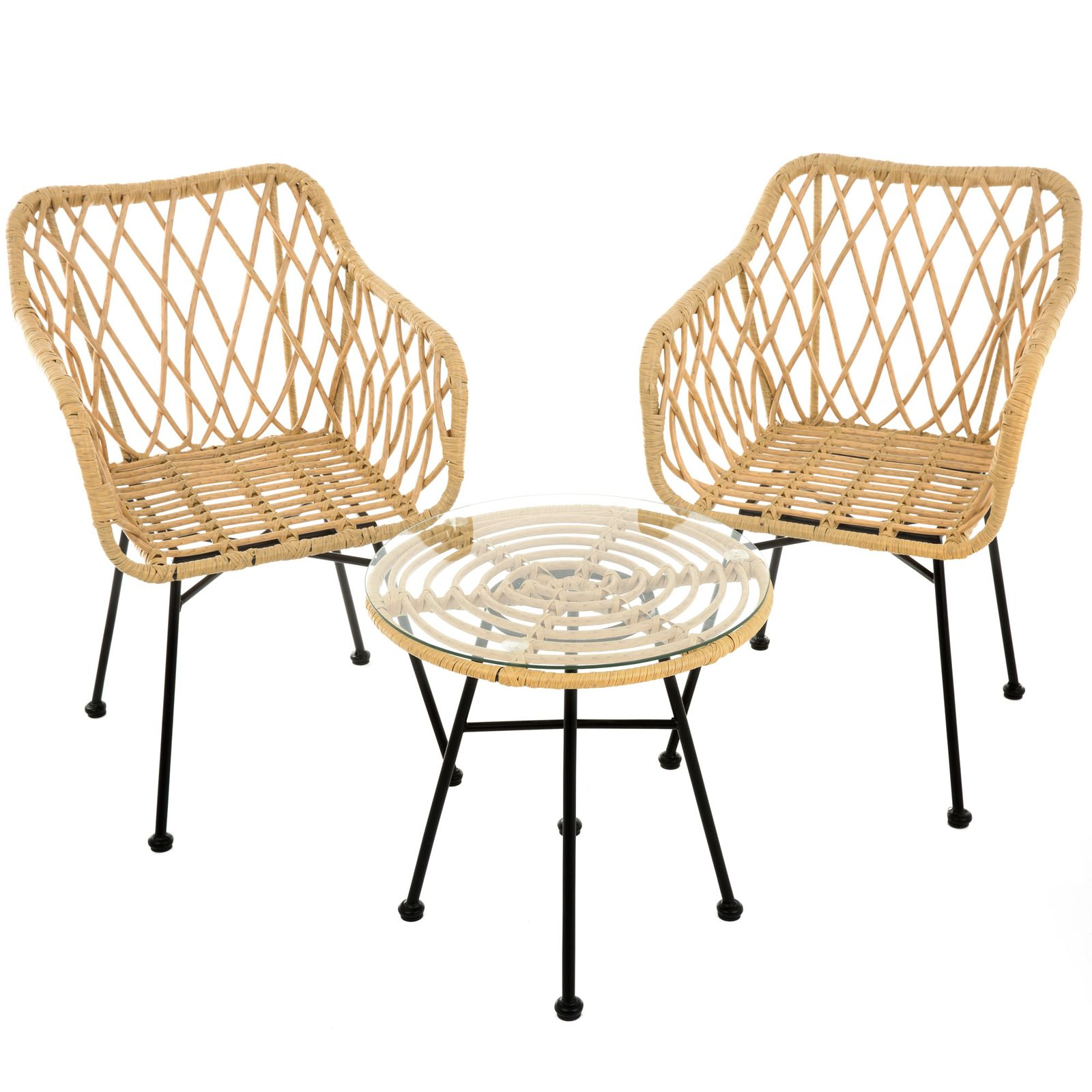 Záhradný stôl z technorattanu Desire Beige 50 cm PATIO