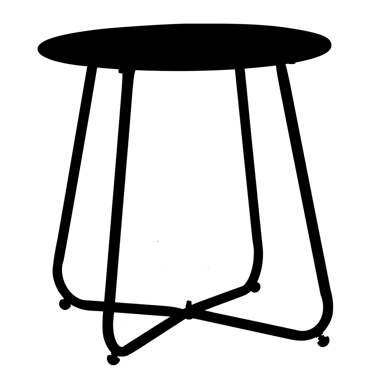 Stolik ogrodowy Florian 45 cm czarny PATIO