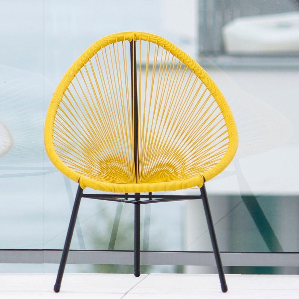 Fotel żyłkowy Arthur żółty PATIO