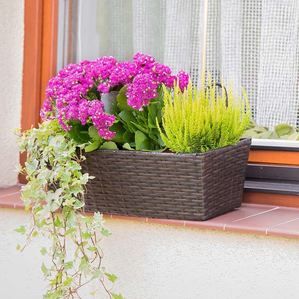 Doniczka balkonowa wenge 49 x 16 x 14,5 cm PATIO