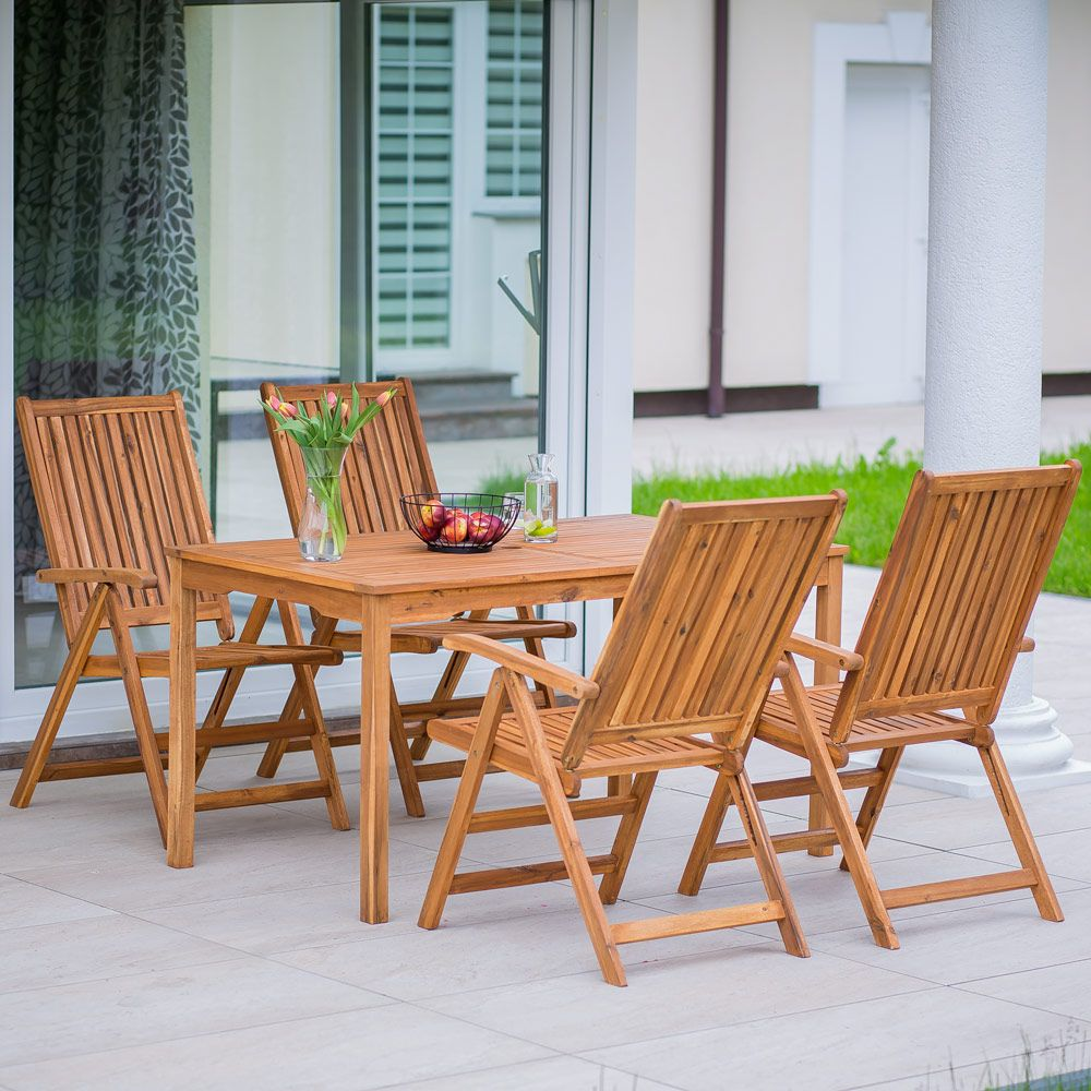 Komplet mebli balkonowych / ogrodowych Akacja PATIO
