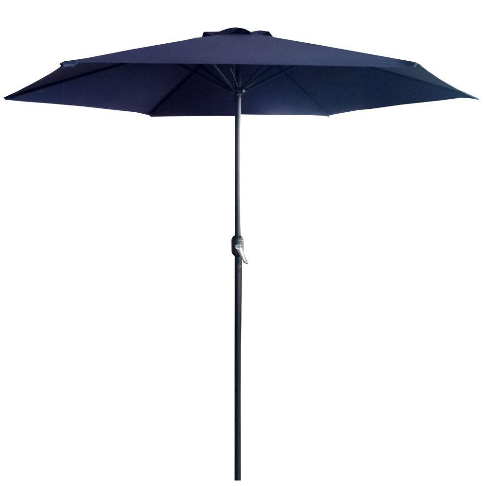 Parasol ogrodowy 3 m granatowy / antracyt  PATIO