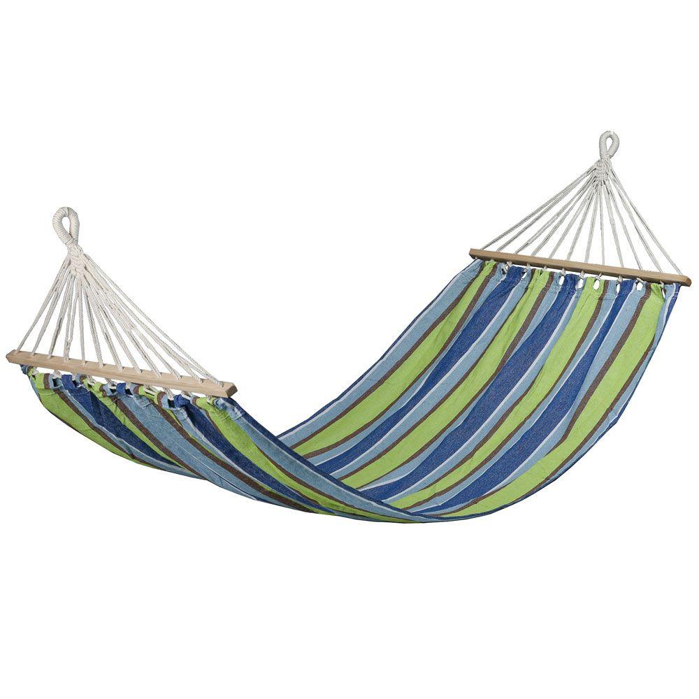 Hamac Paradise à rayures bleu-vert 200 x 100 cm PATIO