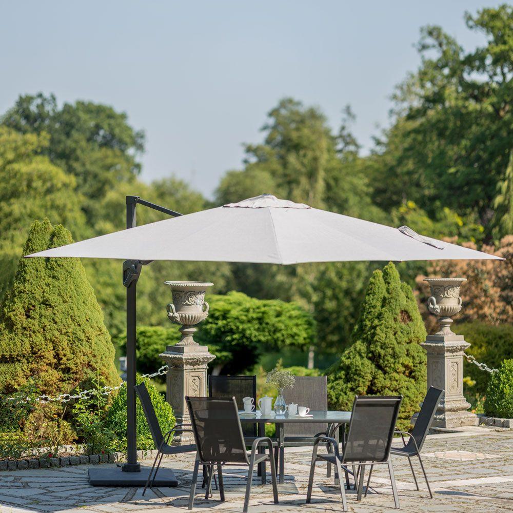 Umbrelă de grădină Verano Lux 3 x 3 m gri PATIO