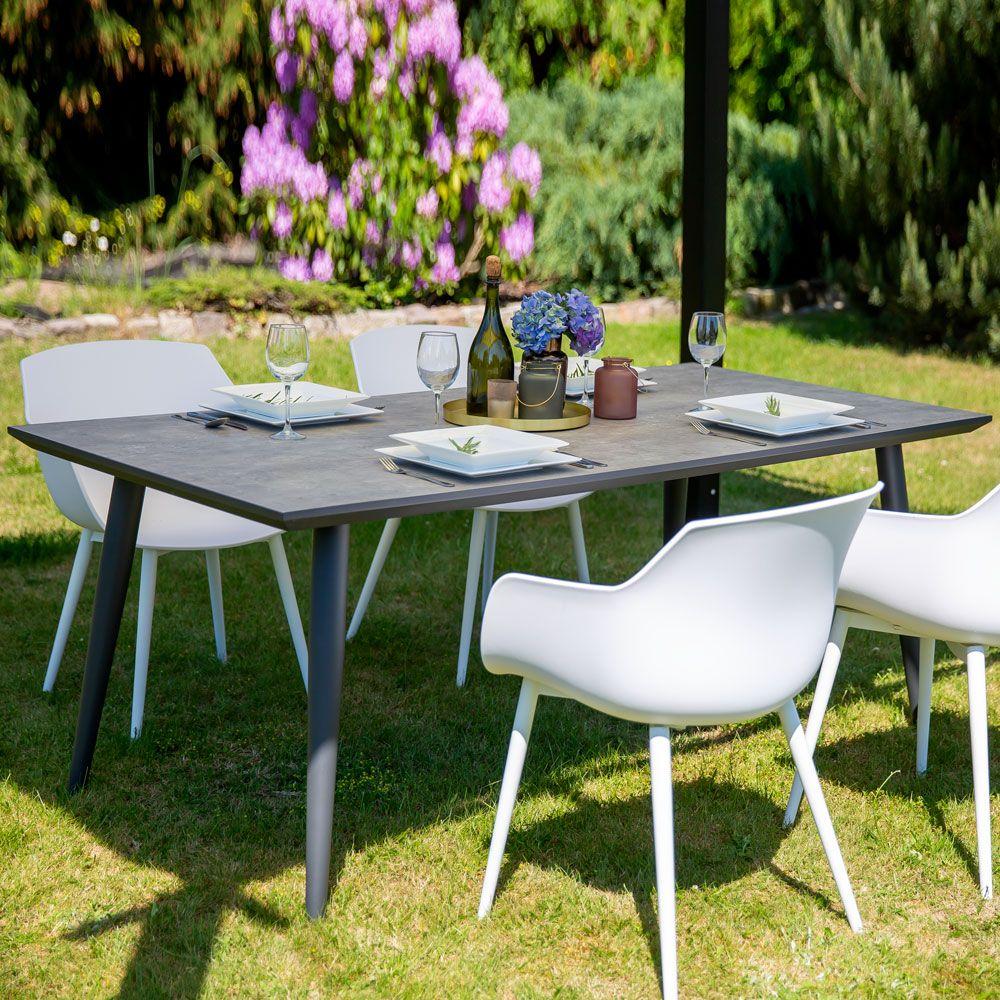 Stół ceramiczny Hugo 180 x 90 x 72 cm szary PATIO