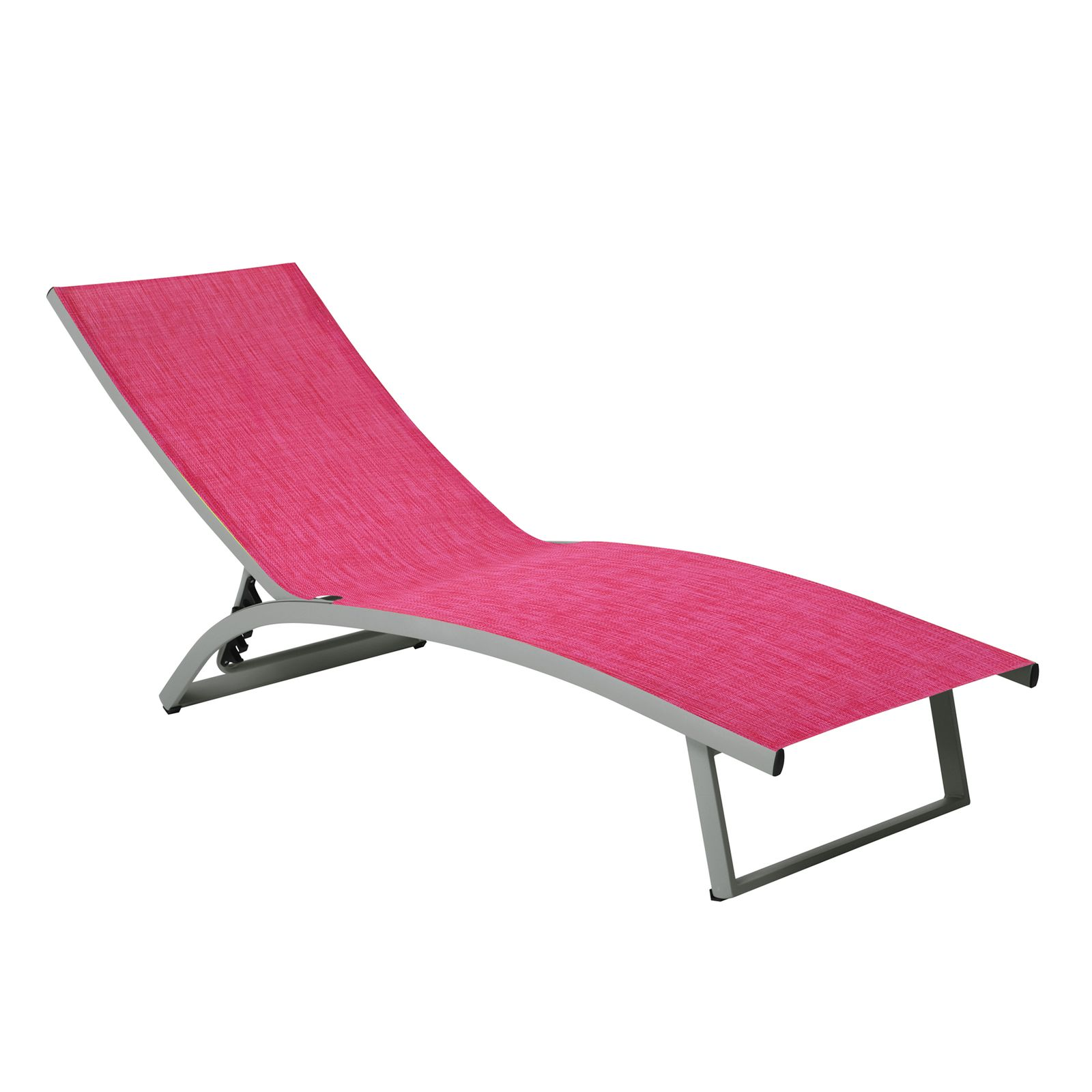 Łóżko plażowe Summer 5-pozycyjne fuksja PATIO