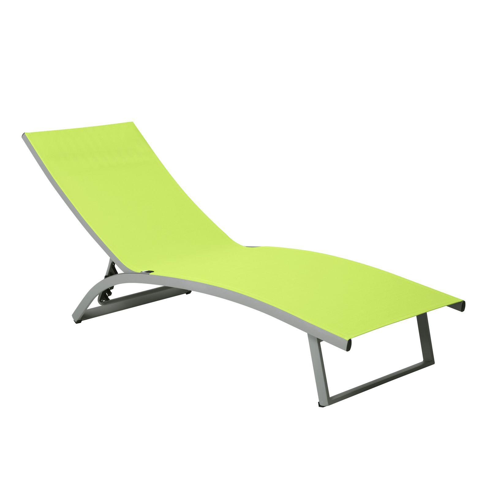 Łóżko plażowe Summer 5-pozycyjne limonka PATIO