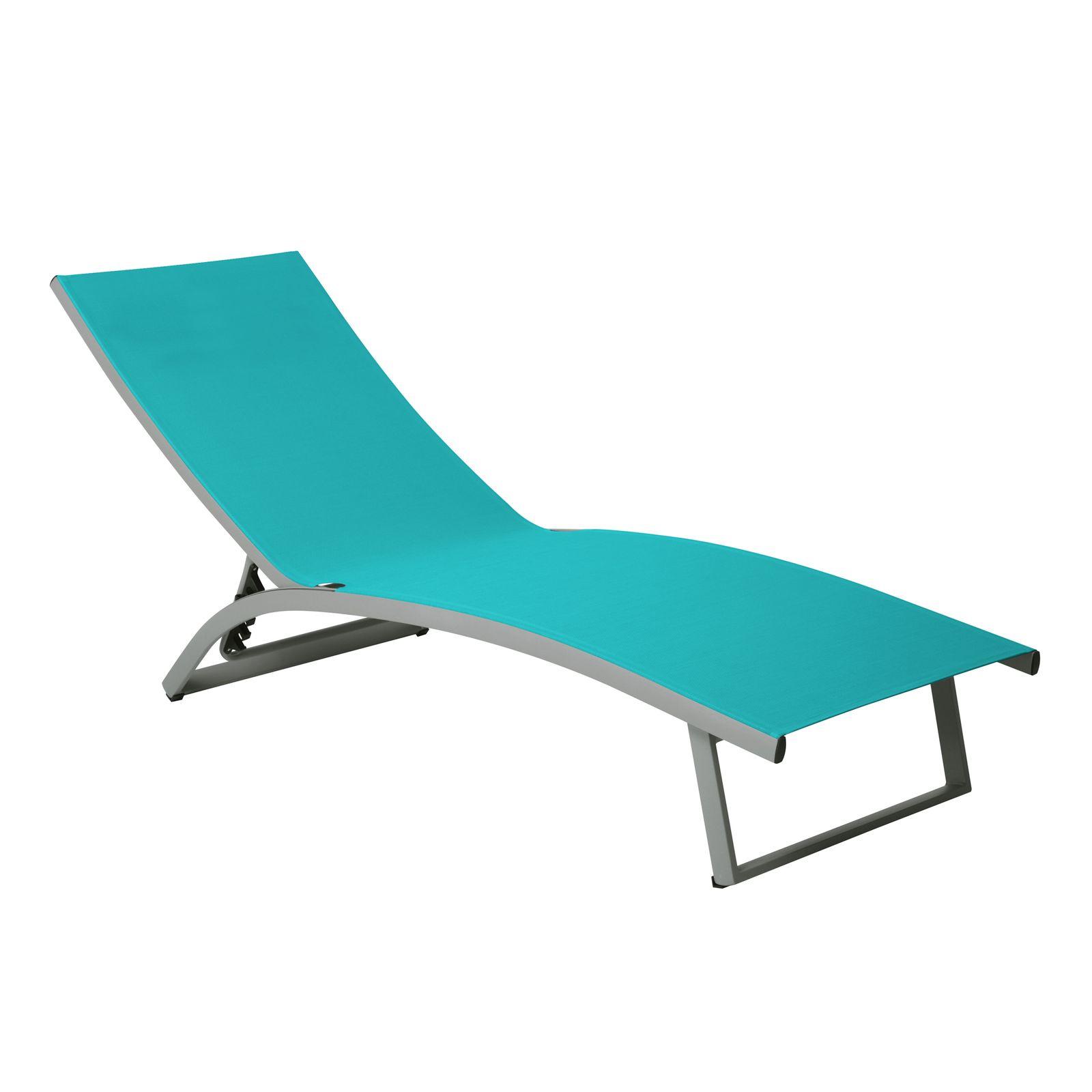 Łóżko plażowe Summer 5-pozycyjne turkus PATIO