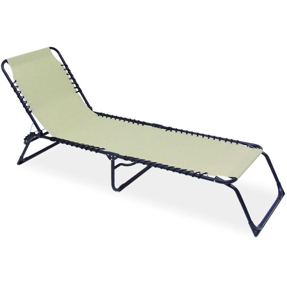 Lit de plage/ transat Relax beige PATIO