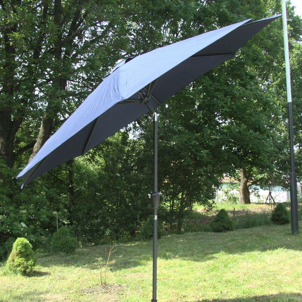 Parasol de jardin 3 m bleu PATIO