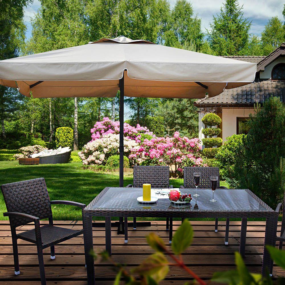 Parasol de jardin Resto 3,5 x 3,5 cm taupe PATIO